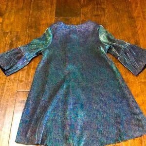 """Mini Series iridescent """"oil slick"""" dress, 4T"""